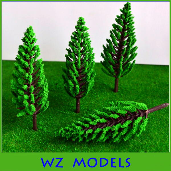 50mm architectural green pine models tree,artificial ABS plastic pine tree model for train layout <br><br>Aliexpress