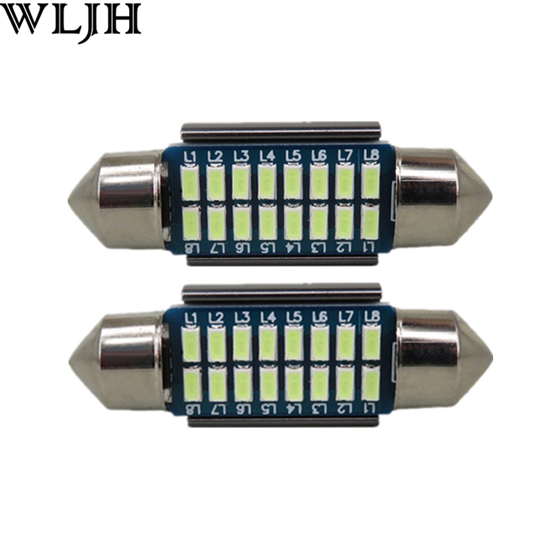 2pcs CANbus LED 36mm C5W Lamp Bulbs For Samsung 3014 SMD License Plate Light For BMW E36 E39 E46 E60 E90 E30 E53 E70(China (Mainland))