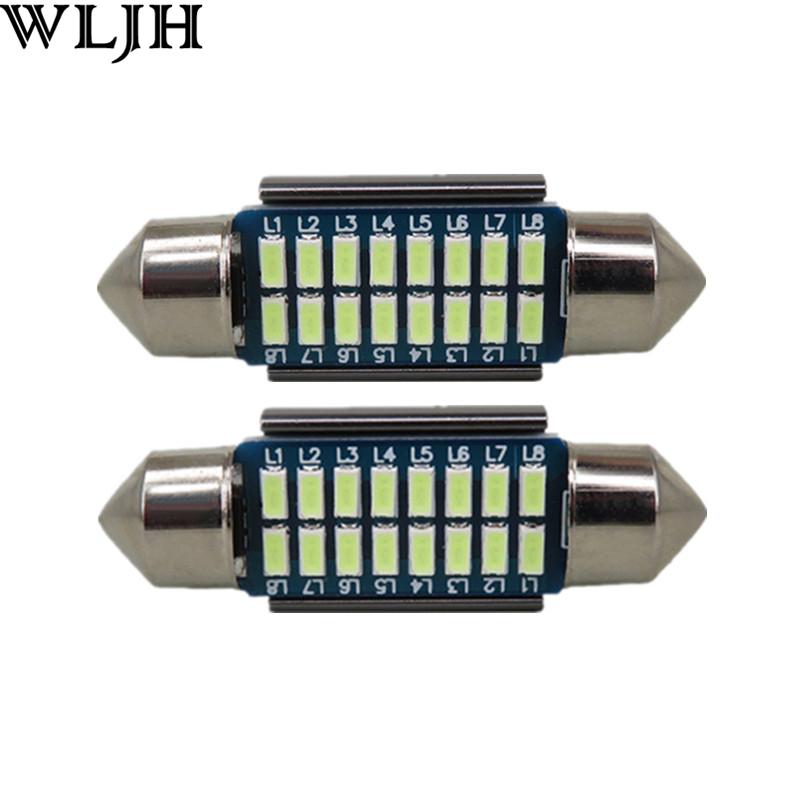 2pcs CANbus LED 36mm C5W Lamp Bulbs For Samsung Led Chip 3014 SMD License Plate Light For BMW E36 E39 E46 E60 E90 E30 E53 E70(China (Mainland))