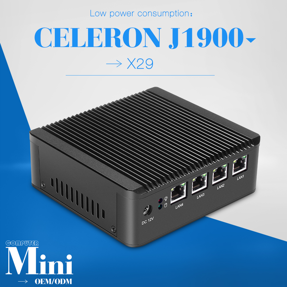 Industral computer host good quality mini pc J1900 quad core with 4 lans wifi computer case support win 7,8 system(China (Mainland))