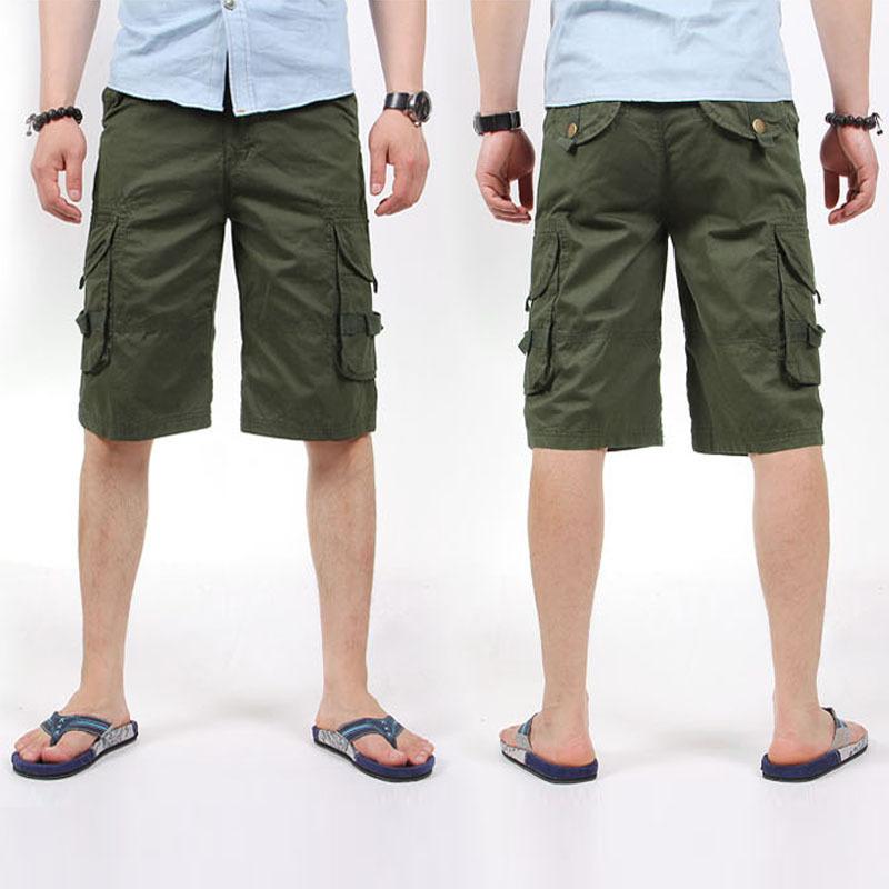 Dark Green Shorts Mens - The Else