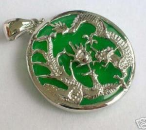 STUNNING JADE DRAGON PHOENIX PENDANT & CHAIN(China (Mainland))
