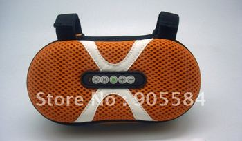 Portable Bike Bicycle Case Speakers MP3 Stereo Bag Speaker with recharge Li-battery+USB for cell Phone
