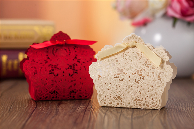 Lot of 10/20/30 PCS Fairy Tale World Ribbon Paper Lace Decoration Wedding Gift Candy Cookie Paper Box(China (Mainland))