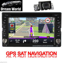 "GPS Double 2 Din 6.2"" In-Dash Car DVD Player Radio Stereo Bluetooth iPod+Camera"