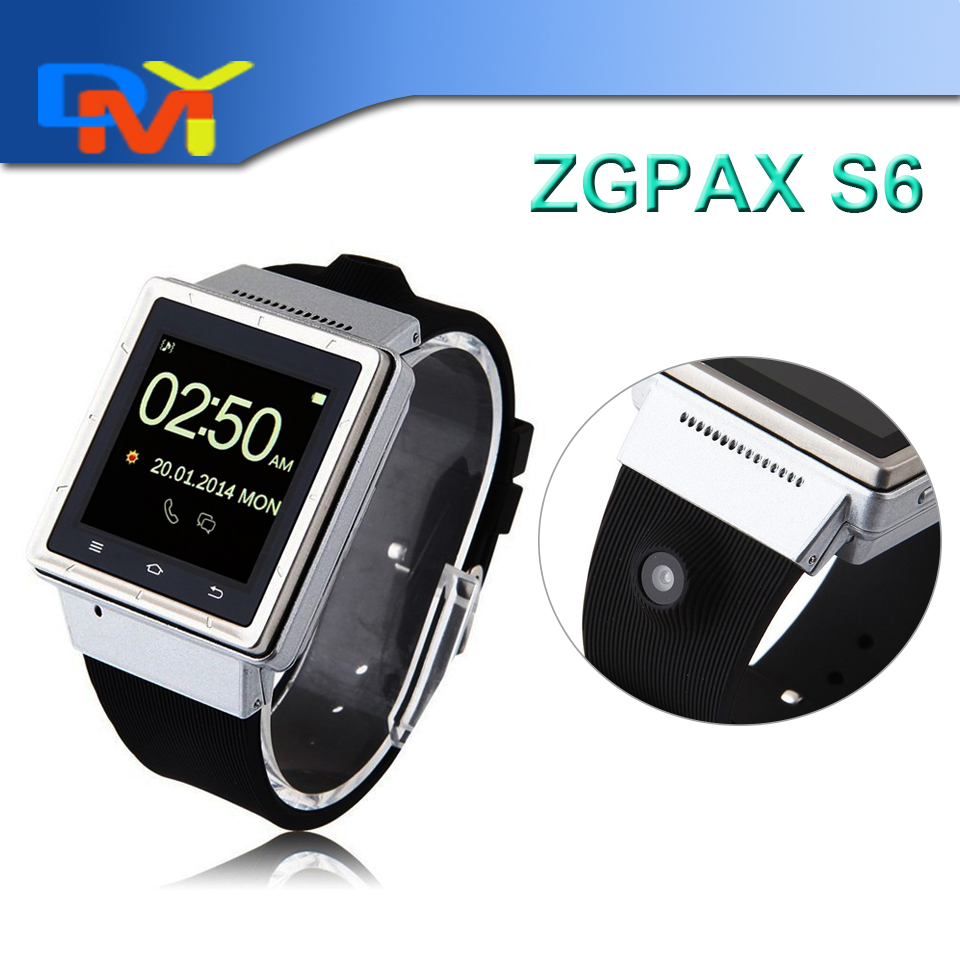 3G Smart Watch ZGPAX S6 Smartwatch Android 4.4 Dual Core Mobile Phone Wrist Watches Smartphone Bluetooth Wifi 2.0MP Camera GPS(China (Mainland))