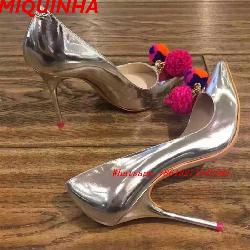 New Kate Zapatos Mujer Talons Sexy Silver Metallic Sliver Women Pumps Pointed Toe Stilettos High Heels Nice Summer Shoes Woman(China (Mainland))
