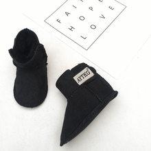 Kış Avustralya Bebek Kız Kar Botları Sıcak Koyun Derisi Deri Kürk Bebek Botas Su Geçirmez Bebek Boot Erkek Bootie Ayakkabı Olmayan -kayma(China)