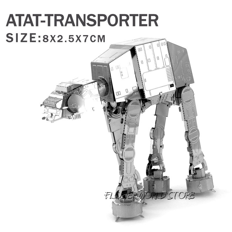 2015 Hot Star Wars 3D model 3D metal puzzle DIY Jigsaws ATAT Transporter Puzzles Adult/Children gifts DIY toys War Machine(China (Mainland))