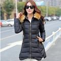 Winter Long Jacket Women 2016 New Fshion Womens Parka Casual Outwear Nagymaros collar Hooded Coat Fur