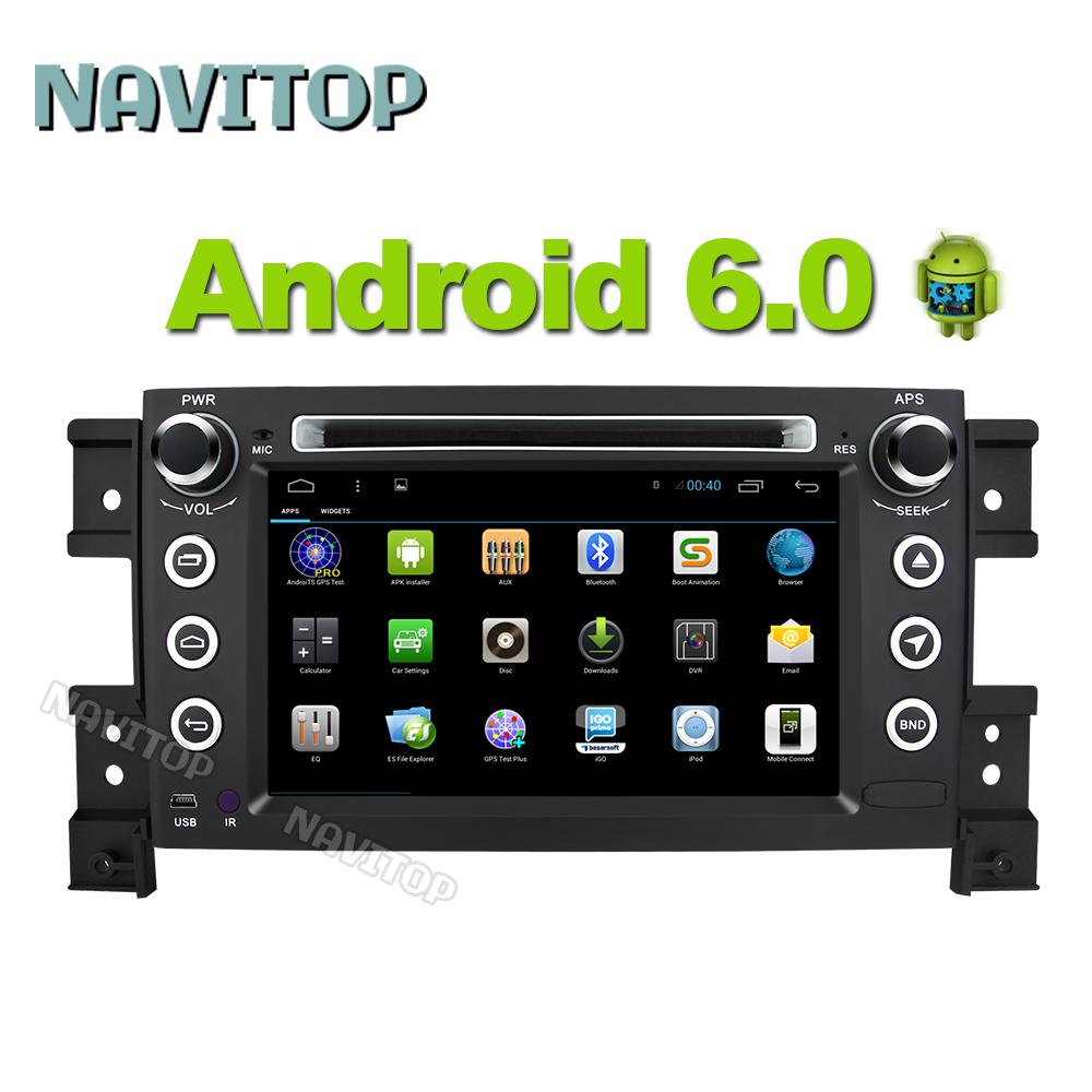 Navitop Android 6.0 car dvd player gps for Suzuki grand vitara 2005-2011 2 din in dash 1064*600 radio stereo navigation gps(China (Mainland))