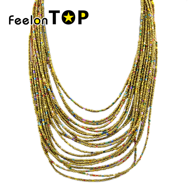 Beads Necklace Tibetan Fashion Five Colors Multilayer Necklace Indian Jewelry Hot Selling Design in 2016(China (Mainland))