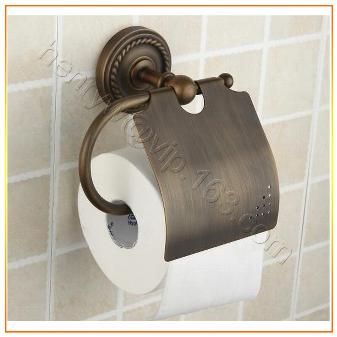 Retail- Luxury Brass Paper Holder, Bronze Finish Toilet Tissue Holder Wall Mounted, Free Shipping X16002L(China (Mainland))