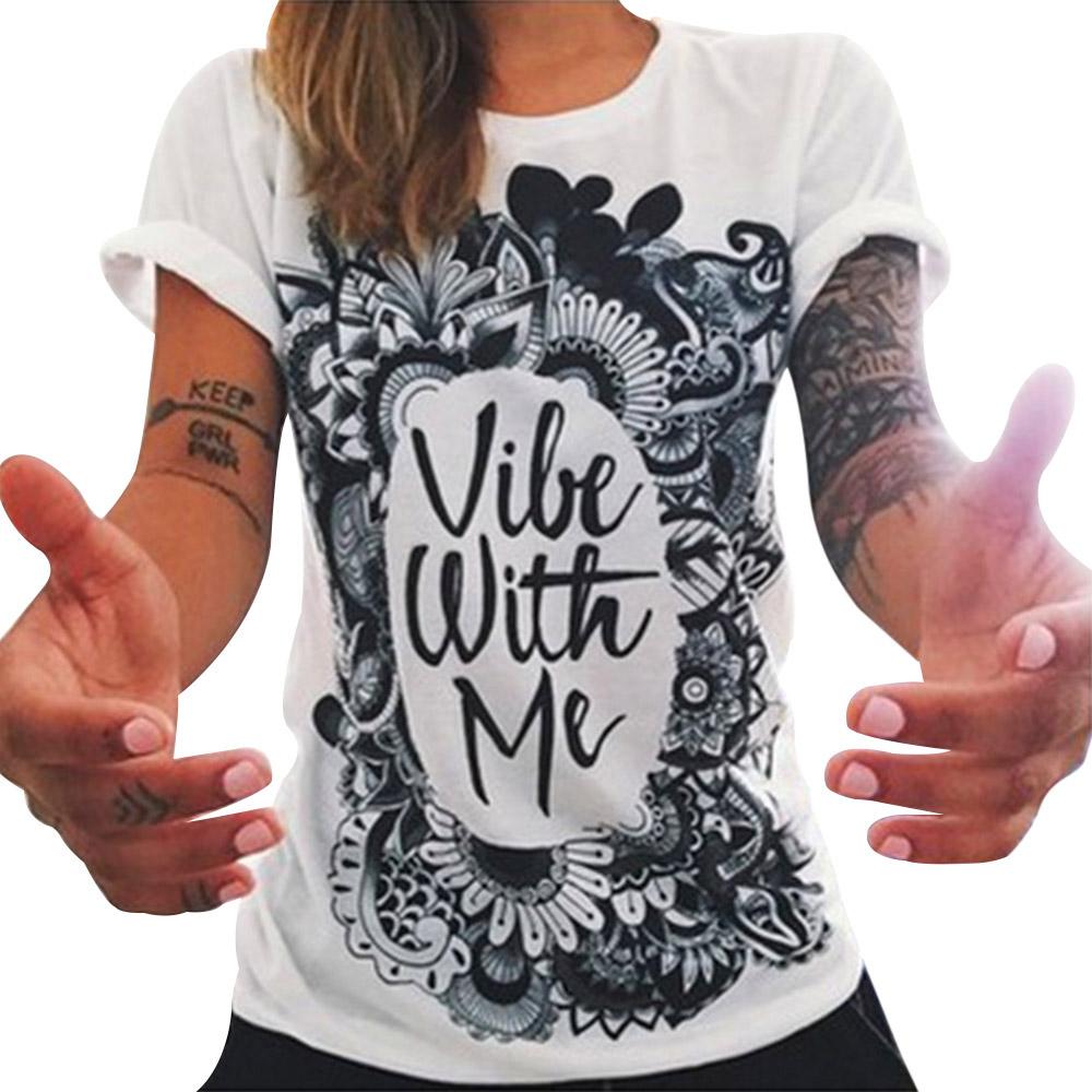 European T-shirt Summer Women 2016 Carton Letter Print Punk Rock Fashion Graphic Designer Woman Girl Tee Tops Mujer Female Blusa(China (Mainland))