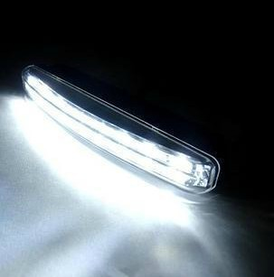 2PCS Quality Super White 8 LED Universal Car Light Daytime Running Auto Lamp DRL Auxiliary Light In The Day, Free Shipping