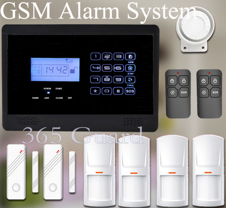 Free shipping Touch keyboard GSM Alarm System door sensor+remote control 433MHZ for wireless Home Burglar Security Alarm System(China (Mainland))