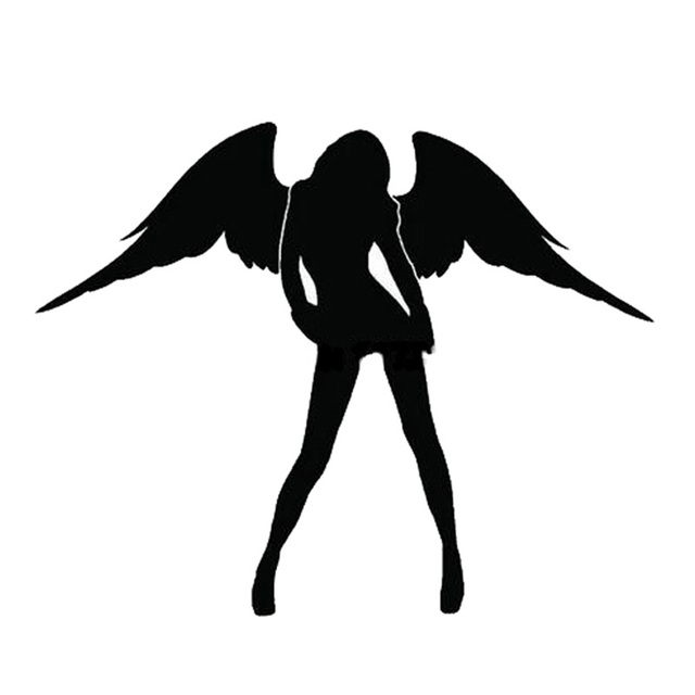 10*14CM Sexy ANGEL Car Sticker Decals Lovely Angel Wings Motorcycle Car Styling Car Stickers C2-0079