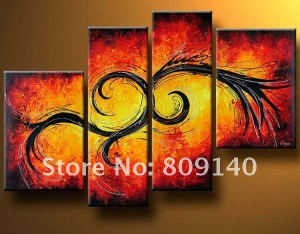 abstract decoration oil painting on canvas Together high