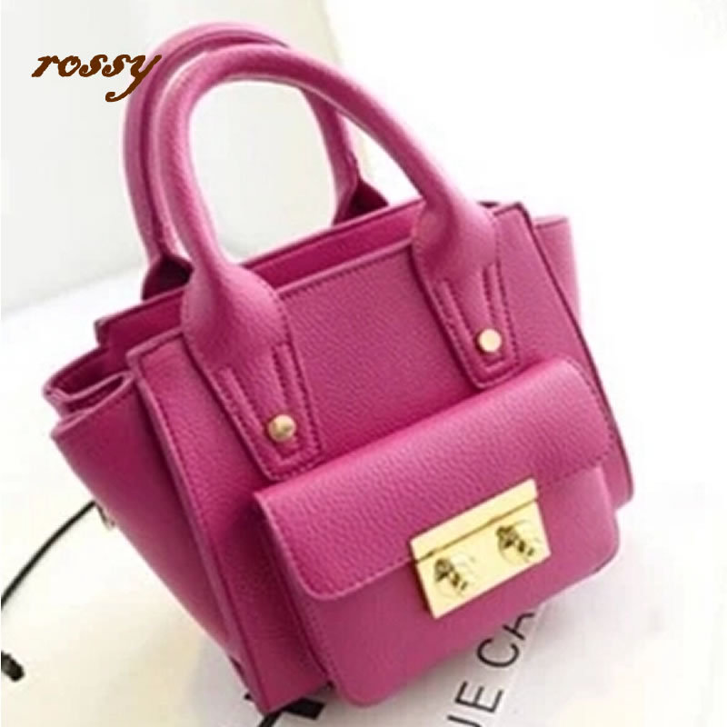 2014 Real Bolsas Women Handbag Promation! Hot! Simple Pu Leather Bag Color Ladies Shoulder Women's Messenger Bags Tote  -  mis zhao's store store