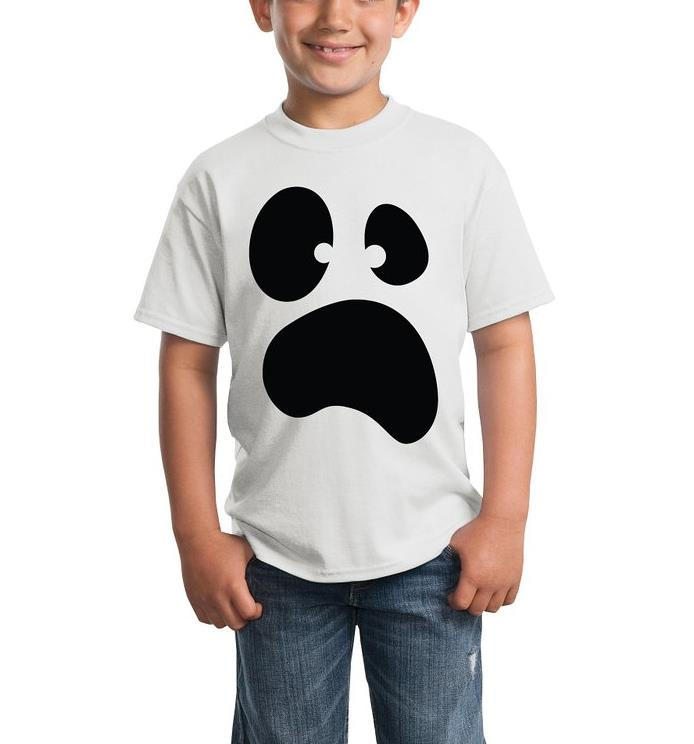 New Kids tshirt Funny Silly Ghost Face Halloween Print Boy Girl t shirt Casual Children Funny Hipster Top Tees Gift ZT205-32(China (Mainland))