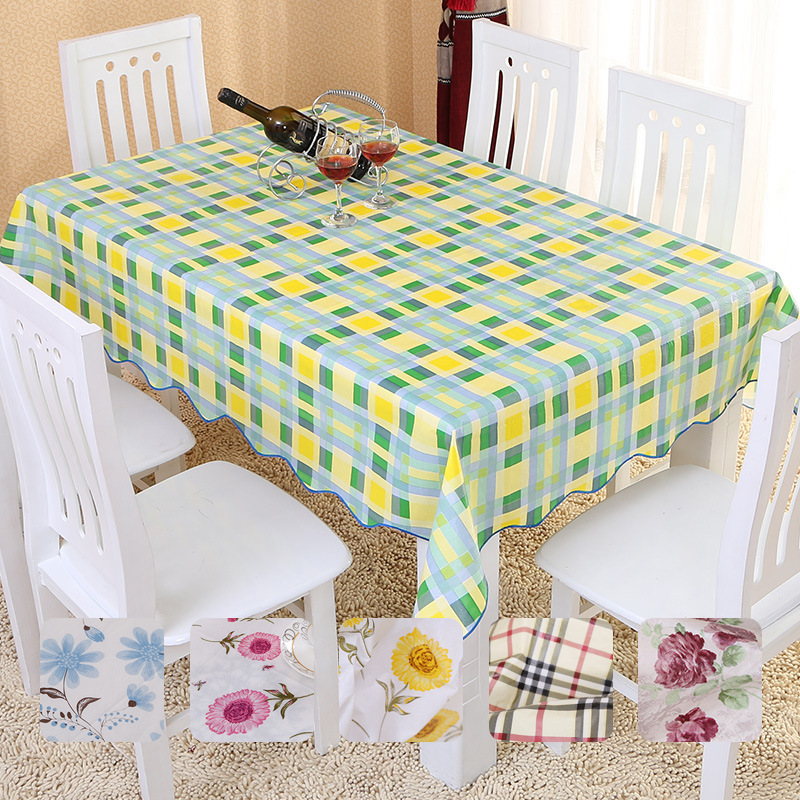 (Mutil Size)PVC table cloth printed table cloth waterproof oilproof dinner tablecloth household tea table cloth mutil color(China (Mainland))