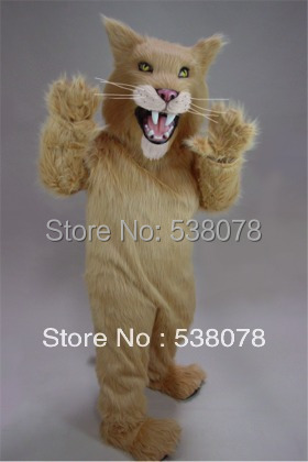Long Hair Material Saber Tooth Mascot Costumes tiger Outfits Suits Party Carnival Advertising Stage Performance SW613(China (Mainland))
