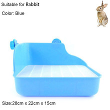 Hamster Pet Cat Rabbit Corner Toilet Litter Trays Clean Indoor Pet Litter Training Tray For Small Animal Pets(China)