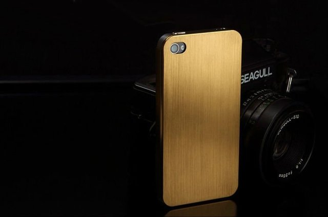 Free Shipping 2012 A+++Quility Utrathin 0.3mm Latest titanium alloy Metal Case back cover for iphone 4G 4S bumper