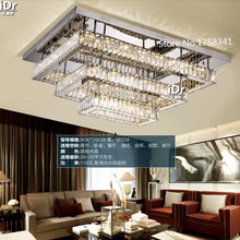 Creative Rectangular crystal lamp shades varying light LED Ceiling lights  living room lights restaurant lamps L900xW700xH560MM(China (Mainland))