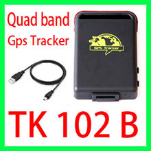 Quad band Personal Gps tracker tk102B Vehicle GSM GPS GPRS Trackeing devices Anti-loss system for the elderly Car Burglar Alarm(China (Mainland))