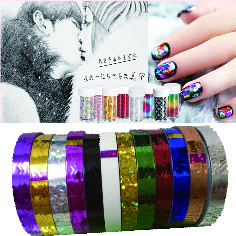 Nail Stripping Tape New 2016 Waves Line Strips Decor Adhesive Tips Sticker Decals Wraps Tools Nail Art Roll Beauty DIY(China (Mainland))
