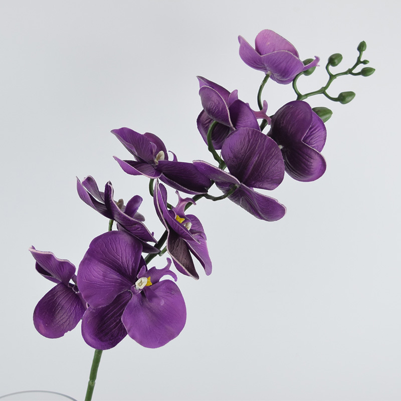 new arrival 39.3'' artificial butterfly orchid flower 5 pcs PU latex real touch good quality wedding decorations flores (China (Mainland))