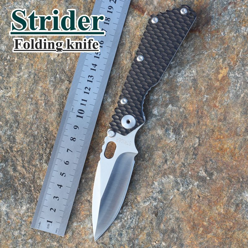 2015 HOT Free Shipping New Tactical Survival Folding Knife Strider SMF Black G10 Handle MSC Stainless Steel Blade Best quality(China (Mainland))