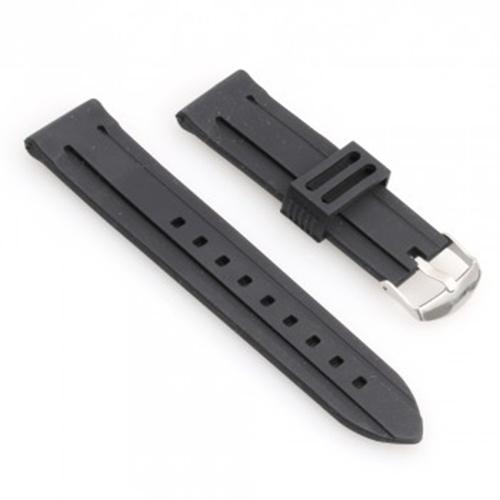 Men Women 24mm Black Silicone Watch Band Strap Bracelet Fashion Model 1 Watchband SB0595(China (Mainland))