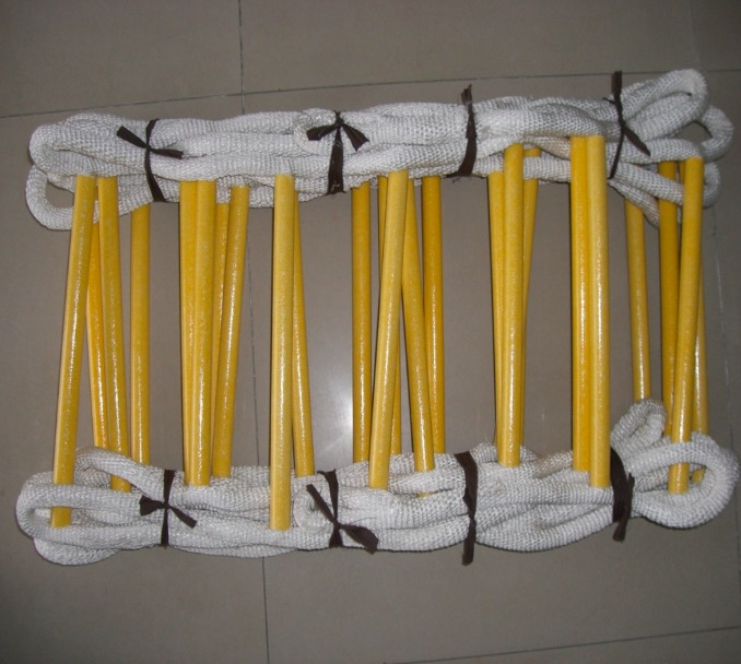 High Strength Epoxy Resin Folding Fire Escape Ladder With Safety Hook Free Shipping