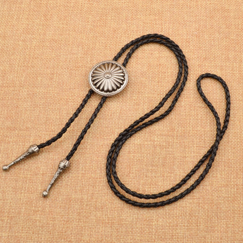 Classic Indian Western Cowboy Bolo Tie Dance Bola Tie Rope Chain Necktie Bowtie