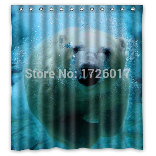 YOOSEE!! Grizzly Bear Personalized Custom Shower Curtain Bath Curtain Waterproof MORE SIZES GOOD GIFT!!(China (Mainland))