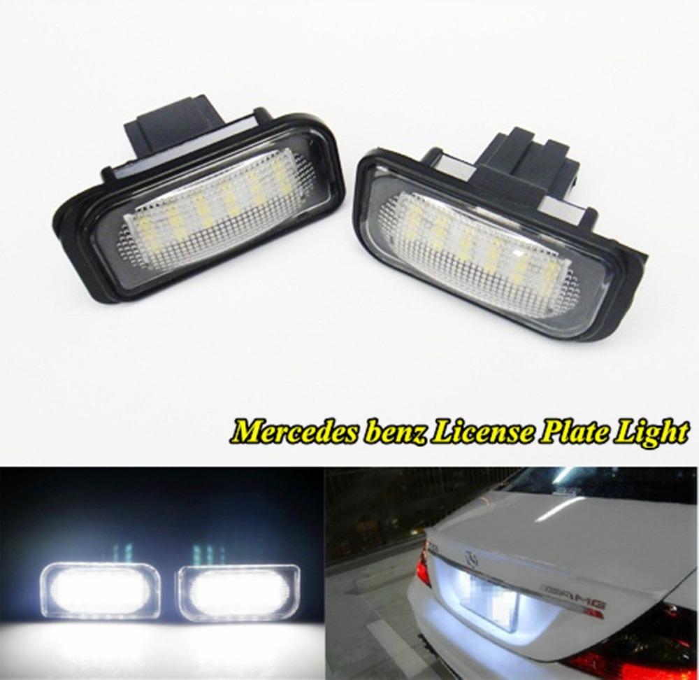 No error led license plate light for mercedes benz w203 4d for Mercedes benz lighter