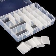 3 Size 10/15/24 Compartment Slot Organizer Storage Beads Box Plastic Jewelry Adjustable Organizador Case(China (Mainland))