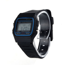 Superior  New Ultra Thin Men Girl Sports Silicone Digital LED Sports Wrist Watch June29