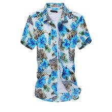 camisa social floral masculina