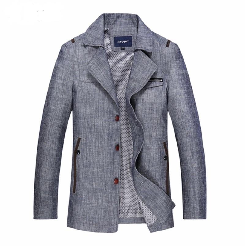 2015 printemps automne veste homme casual hommes college manteau pour hommes trench avec lin et. Black Bedroom Furniture Sets. Home Design Ideas