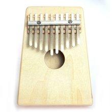New Hot Mbira Thumb Piano 10 Key Finger Thumb Piano Kalimba Mbira Likembe Sanza Pine Light Yellow  Free Shipping(China (Mainland))