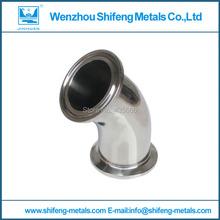 3'' diameter 76.2mm SS 304 Sanitary Tri Clamp 45 Degree Elbow(China (Mainland))