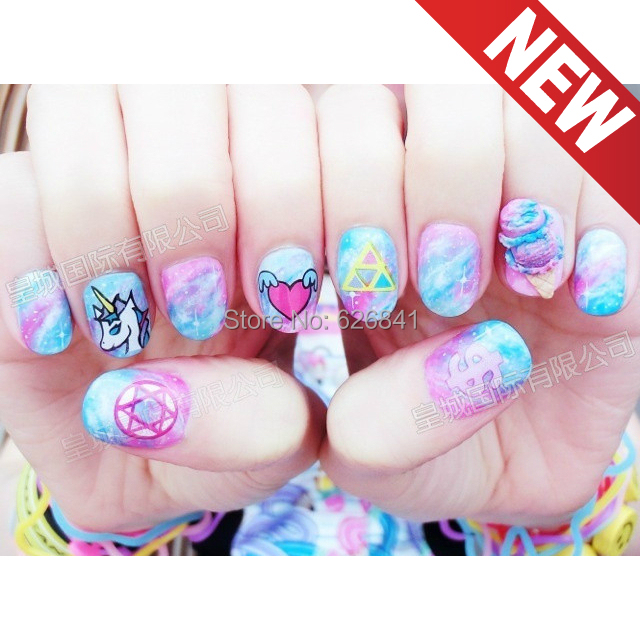 180 patterns/lot new Practical Japanese harajuku nail stickers color watermark & Decals DIY OEM - Miss CZ home decor store