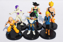 6pcs/set Anime Dragon Ball Z Songukou Vegeta Gotenks Frieza PVC Action Figure Kid Toys Free Shipping