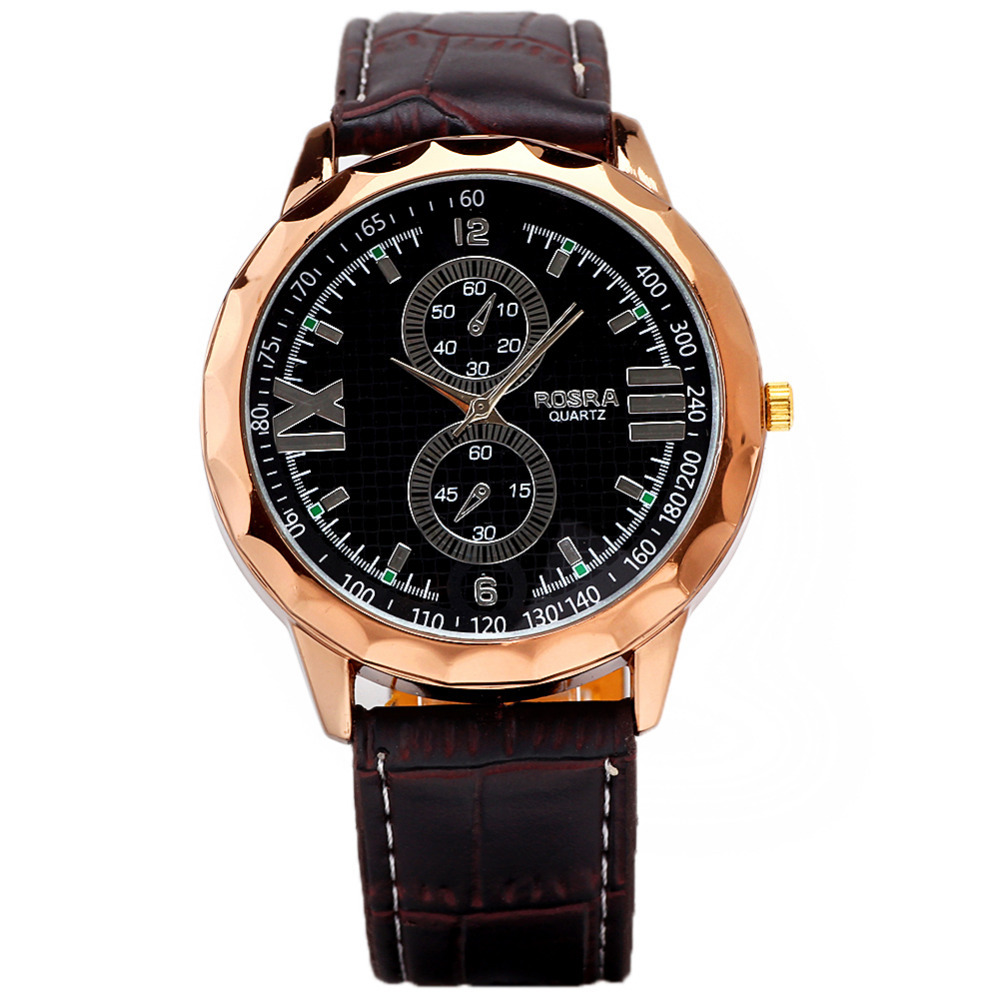 2 small decor leatheroid casual wristwatches