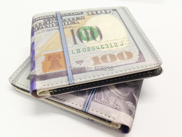 100 DOLLAR BILL /1000 Rouble MONEY WALLET MAN WALLET  / New $100 Bill Benjamin Wallet