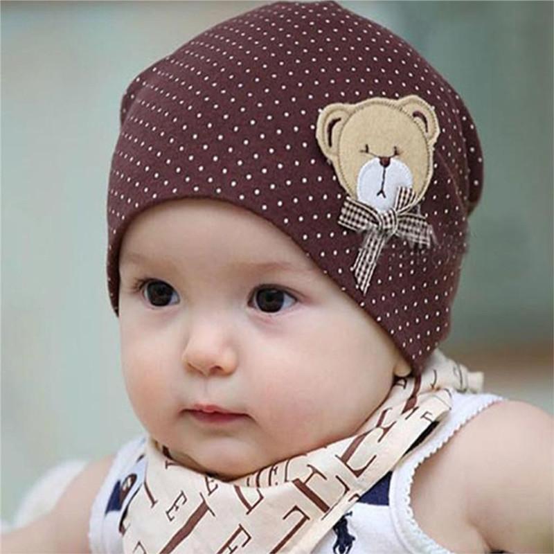 Baby Hat Casual Dot Baby Beanie Bear Cartoon Infant Girls Boys Cap Kids Costume 2016 Autumn Winter Cute Baby Hats Accessories