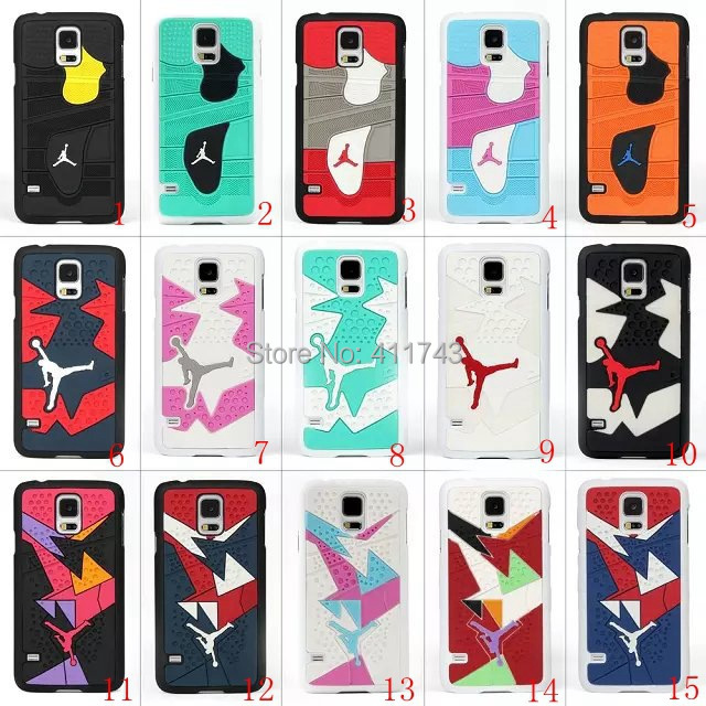 New 2015 Air Jordan sneakers 4 6 7 10 11 Sole PVC Rubber Cover For samsung s5 jordan's Phone Cases Free Drop Shipping(China (Mainland))